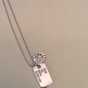 Jewelry - Peace dog tag necklace NWOT